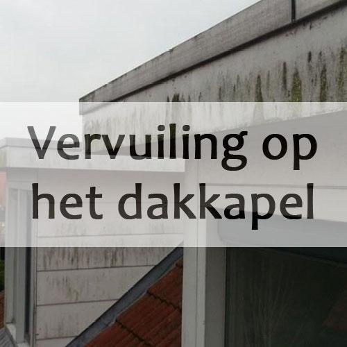 vervuiling voor dakkapelreiniging
